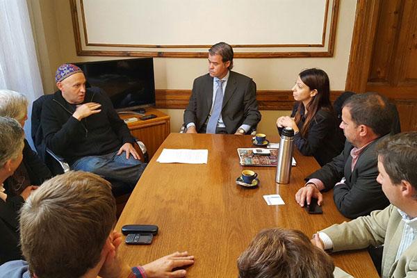 Bergman se reunió con la Asamblea Ambiental de Gualeguaychú