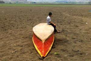 El cambio climático hizo desaparecer una laguna en Guatemala
