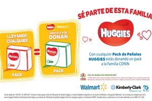 Kimberly-Clark y Walmart Argentina donan pañales en el Mes del Bebé